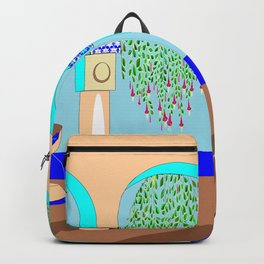 A Mediterranean Garden with Fountain Backpack
