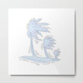 blowin' blue Metal Print
