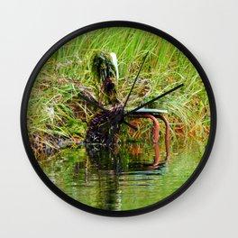 Seaweed Covered Chair Wall Clock