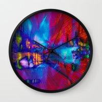 secret life Wall Clocks featuring Secret Life by Stephen Linhart