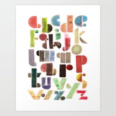 The Alphabet - by Genu WORDISIAC™ TYPOGY™ Art Print