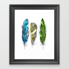 Dream Feathers Framed Art Print