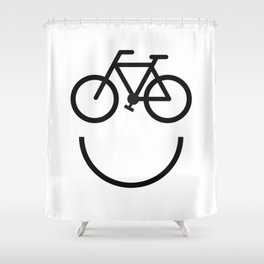 Bike face, bicycle smiley Shower Curtain