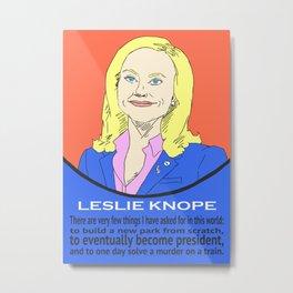 Leslie Knope (Parks & Recreation) Metal Print