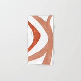 Terracotta Art Print 5 - Terracotta Abstract - Modern, Minimal, Contemporary Print - Burnt Orange Hand & Bath Towel