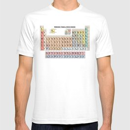 Periodic Table Of Rock Music T-shirt
