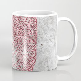 Natural Outlines - Leaf Red & Concrete #635 Coffee Mug