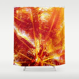 Faded Palm Trees in Mexico Shower Curtain