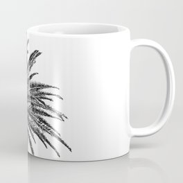Lush Palm {2 of 2} / Black and White Sky Tree Leaves Art Print Coffee Mug