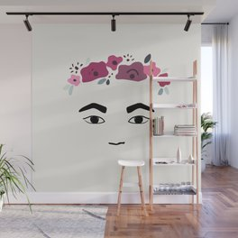 Frida with flowers Wall Mural