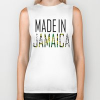 jamaica Biker Tanks featuring Made In Jamaica by VirgoSpice