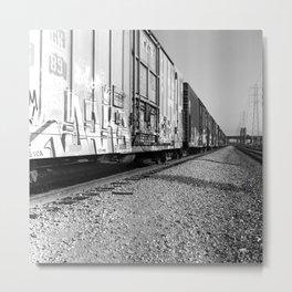 Train Yard, Downtown LA Metal Print