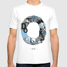 O DOKS White MEDIUM Mens Fitted Tee