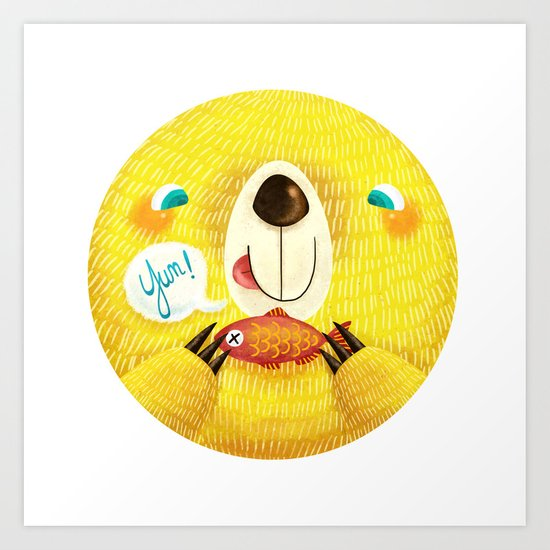 Yum! Bear Art Print