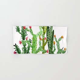 Green Simple Cacti Hand & Bath Towel