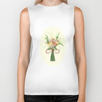 into the wild Biker Tanks featuring Wild by Jade Young Illustrations