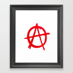 Anarchy Graffiti Framed Art Print