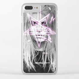 Unholy in Pink Clear iPhone Case