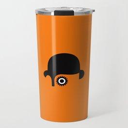 A Clockwork silhouette Travel Mug