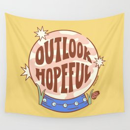 OUTLOOK HOPEFUL (IN YELLOW) Wall Tapestry
