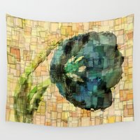 tulip Wall Tapestries featuring Tulip by Aloke Design