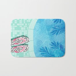 Go Time - resort palm springs poolside oasis swimming athlete vacation topical island summer fun Bath Mat