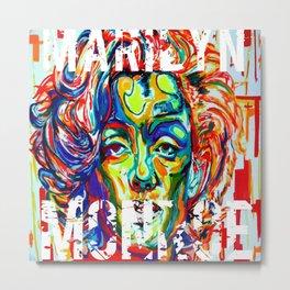 Under the Star:Marilyn Monroe Metal Print