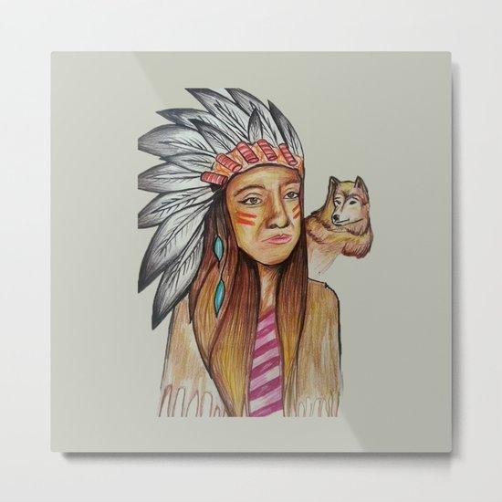 American İndian Metal Print
