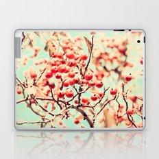 Botanical Malus, Crabapple Wild Apple Ripe Fruit on Tree Vintagely Laptop & iPad Skin