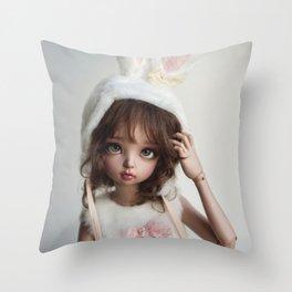 Cute bunny Throw Pillow