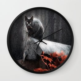 BLACK CAT II Wall Clock