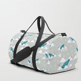 Sea unicorn - Narwhal grey Duffle Bag