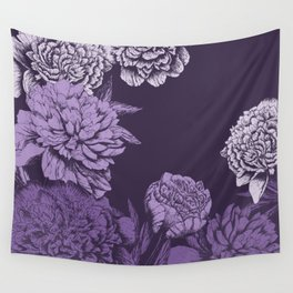 VIOLET FLORAL SYMPHONY Wall Tapestry