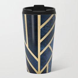Art Deco Midnight Metal Travel Mug