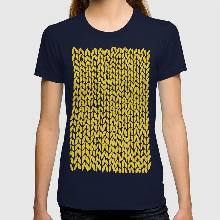 Hand Knit Yellow T-shirt