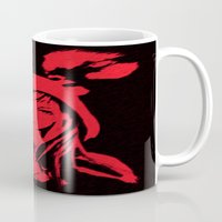 red hood Mugs featuring Miss Red riding hood  by Sammycrafts