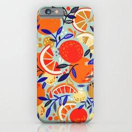 Fresh Citrus Mesh – Mint iPhone Case