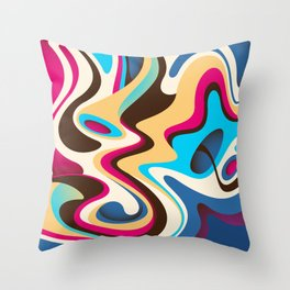Abstract Colorful Flow Background Throw Pillow