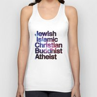 religion Tank Tops featuring RELIGION by CHAD MIZE /// CHIZZY