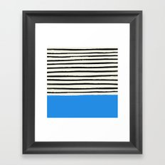 Ocean x Stripes Framed Art Print