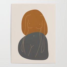Line Female Figure 81 Poster