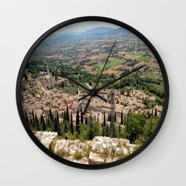 Assisi View Wall Clock