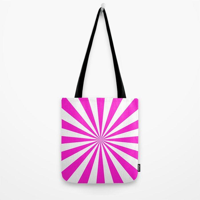 Starburst (Hot Magenta/White) Tote Bag