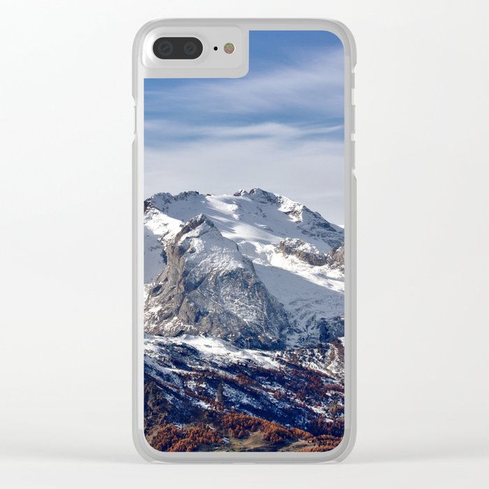Mountain Crashing Clear iPhone Case