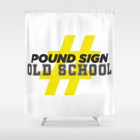 old school Shower Curtains featuring Old School by Tony Ray