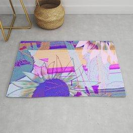 Sunflower Collage Pop Art Rug