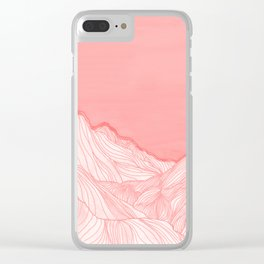 Lines in the mountains - pink Clear iPhone Case