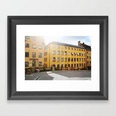 Yellow Swedish Sunrise Framed Art Print