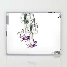 Illustrated Moonflower in Purple and Green Laptop & iPad Skin