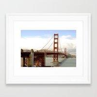 postcard Framed Art Prints featuring postcard by Jaina Tharakan